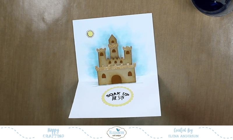 Summery Sand Castle Pop-Up Card - Step 5