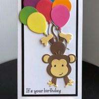 Floating Monkey Card