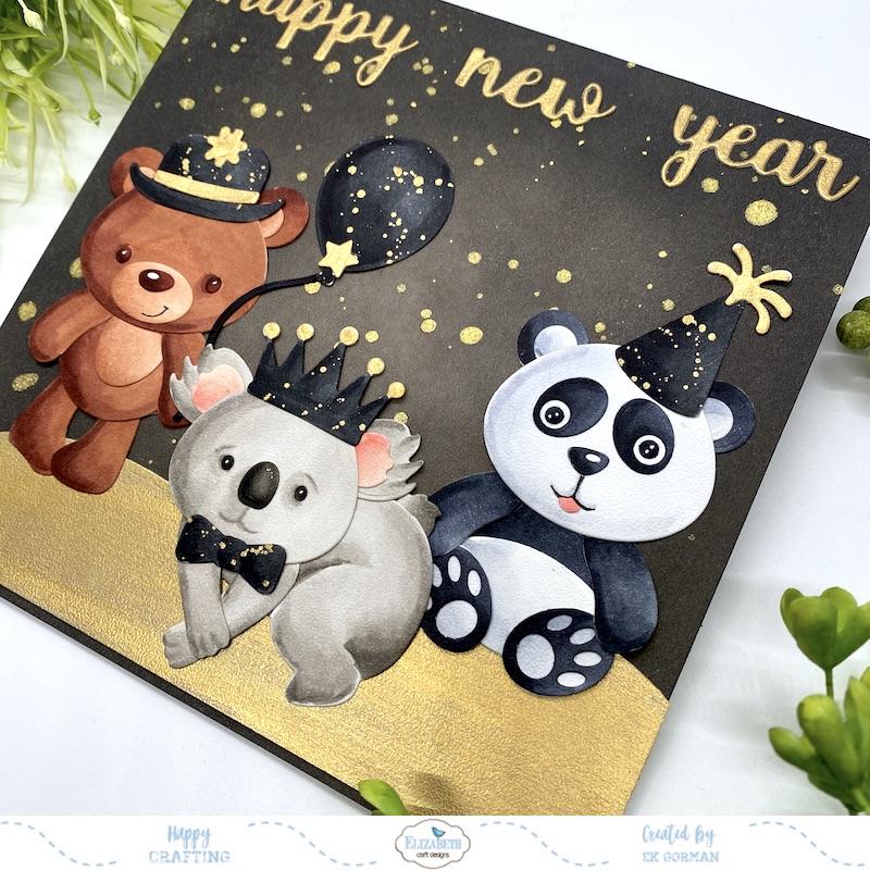 EK Gorman, Elizabeth Craft Designs, Happy new year b
