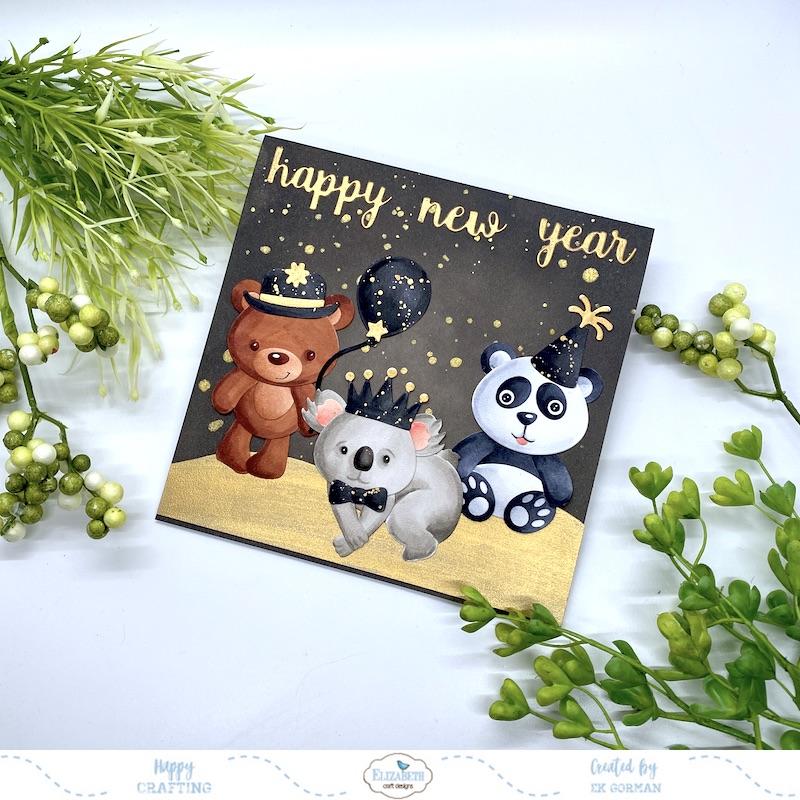 EK Gorman, Elizabeth Craft Designs, Happy new year c