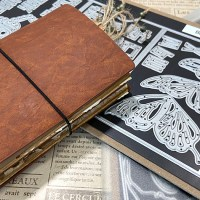 "Mini Traveler's Notebook featuring ""Butterfly Pocket Insert"""