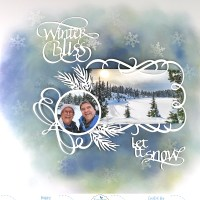 Winter Bliss Scrapbook Page