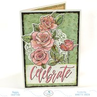 Celebrate Card with New Flower Stamps