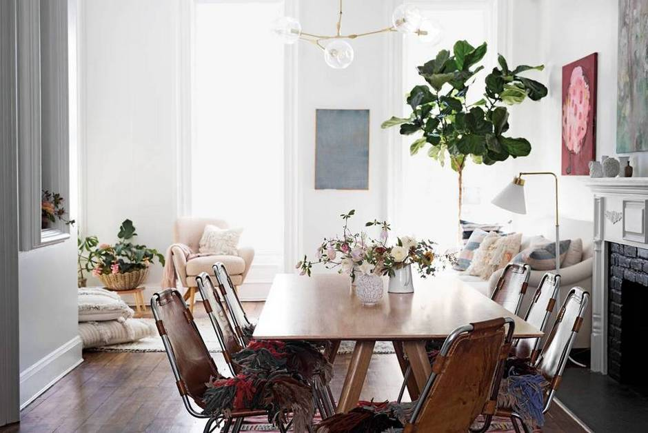 Bright Cheery Dining Room Table of Ulla Johnson in Domino Magazine | Gather Goods Co