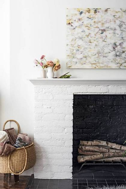 Fireplace in Domino Magazine | Gather Goods Co
