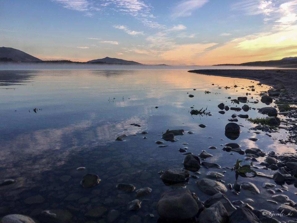 Lever de soleil camping Lago Roca