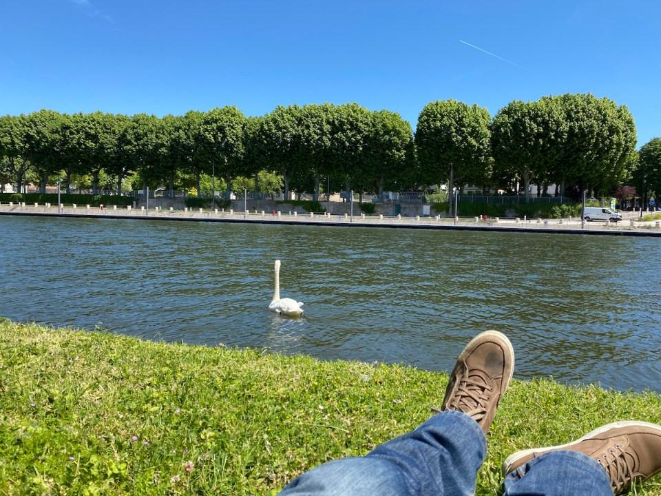 Pique-nique au bord de l'Yonne à Sens