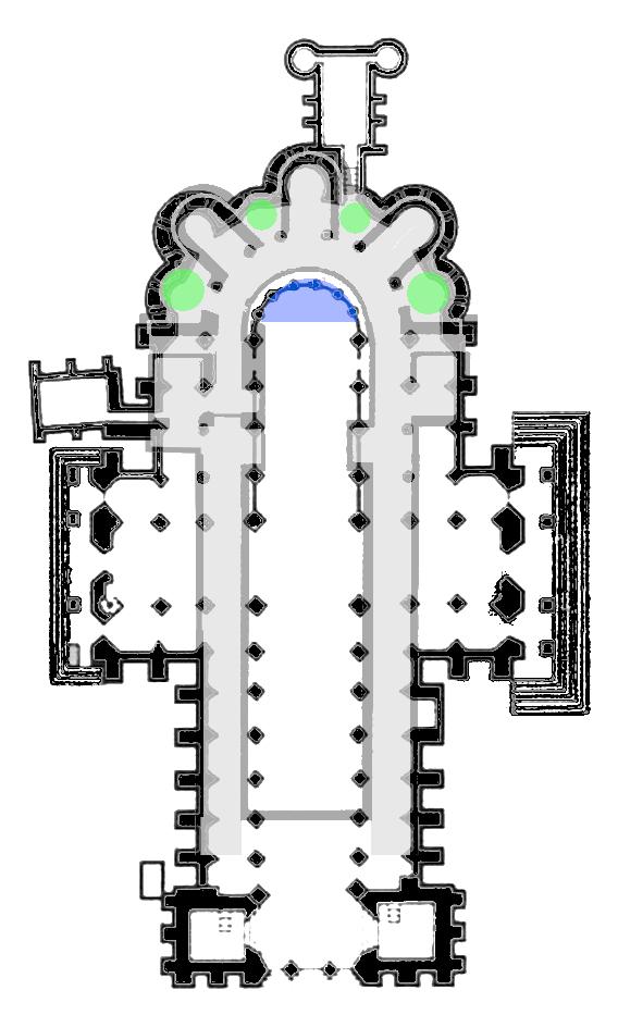 Superposition des églises haute et basse