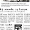 Press Update: 'The Hindu' reports SIFY case…