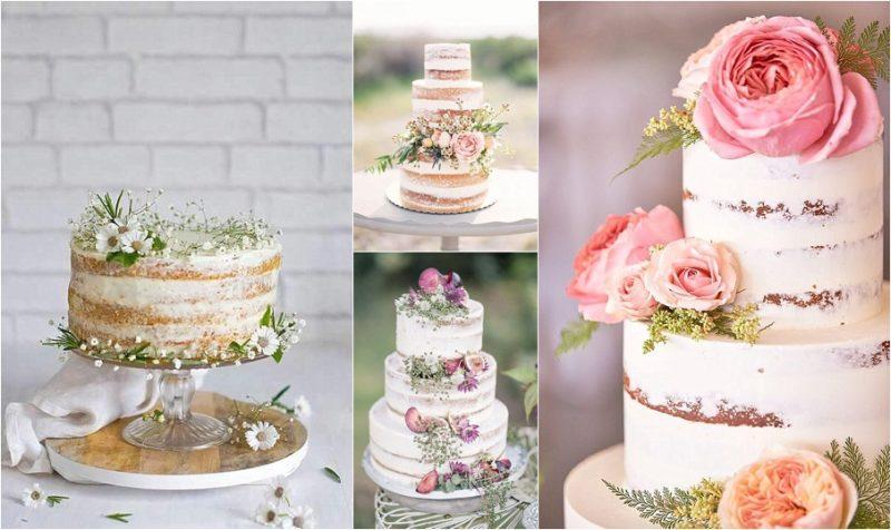 ajouter des fleurs fraiches à son gâteau de mariage -