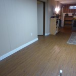 Completed floor with baseboards installed