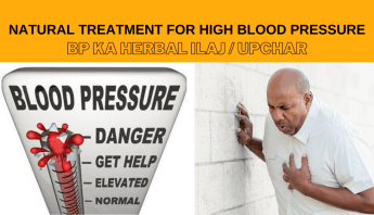 Natural Treatment for high blood pressure bp ka herbal ilaj upchar