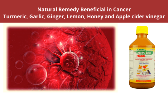 Natural Remedy Beneficial in Cancer Turmeric, Garlic, Ginger, Lemon, Honey and Apple cider vinegar