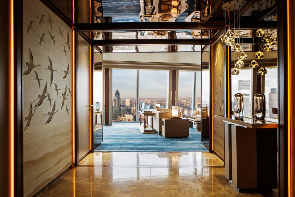 Westminster Suite Entrance at Shangri-La Hotel At The Shard London
