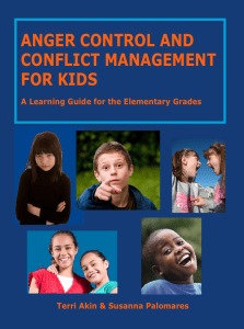 Anger Control, Conflict Management lessons and activities