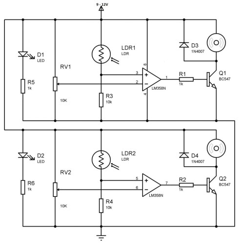 small resolution of  battery line follower robot circuit without using microcontroller 1005x1024