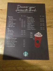 Getränkekarte Starbucks on Rails (Foto: Jonathan Noack)