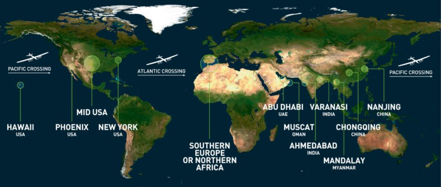 Die Route von SolarImpulse
