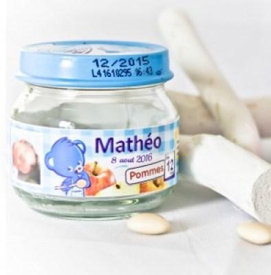 Petit pot de compte bébé pour contenant de dragées baptême
