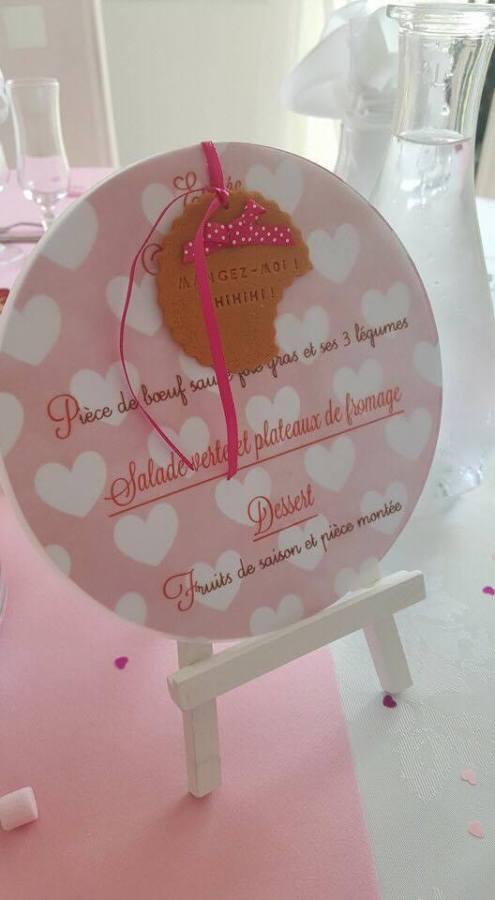 menu bapteme biscuit rose coeur blanc