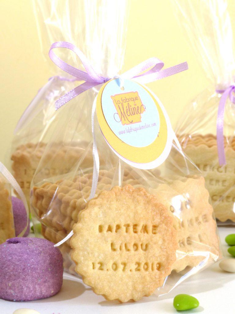 biscuit sablé personnalisé rond