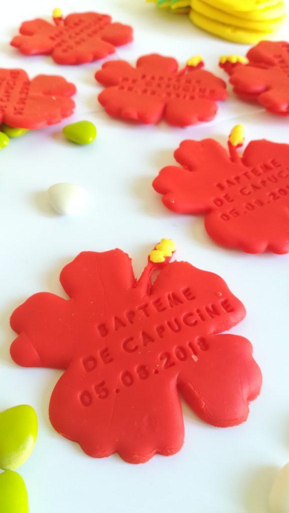 cadeau invité, fleur hibiscus, gravé date, événement, aimanté, aimant