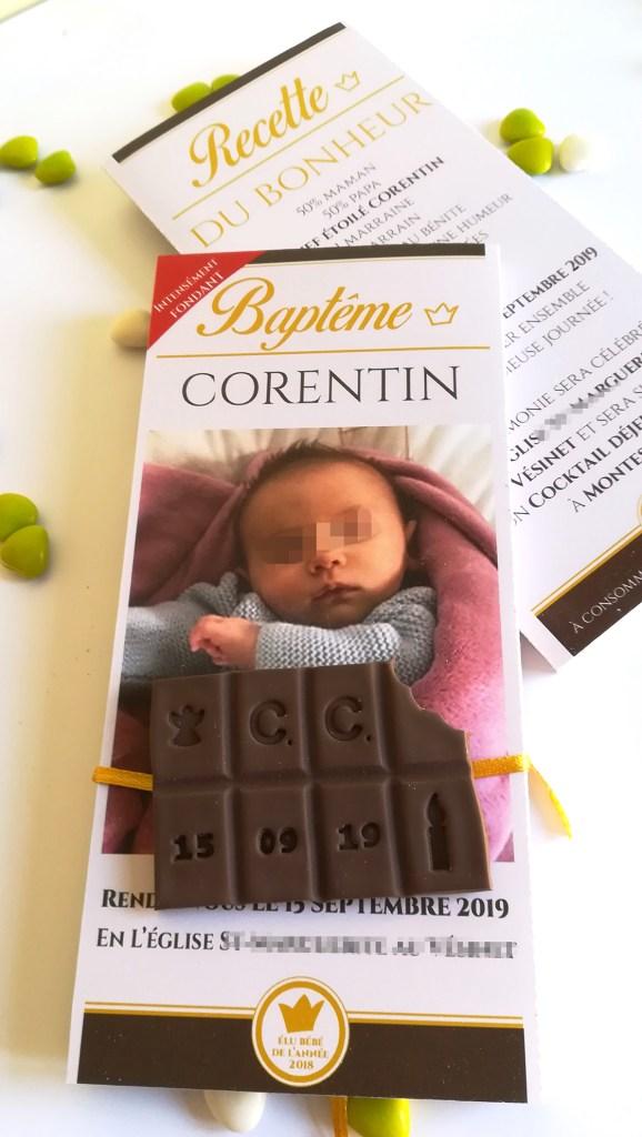 faire-part -chocolat - thème- gourmandise.