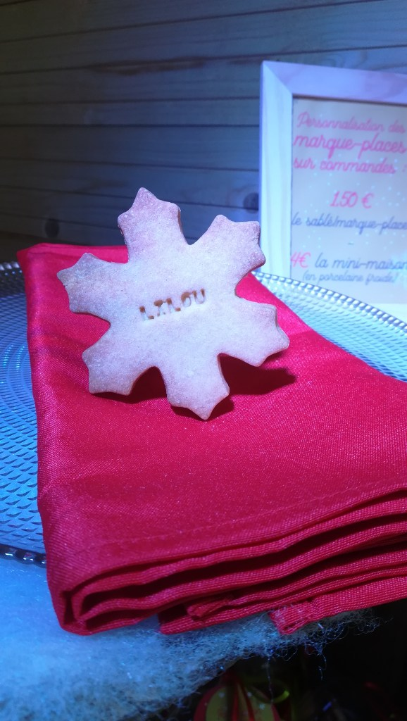 sablé flocon biscuit marque-place