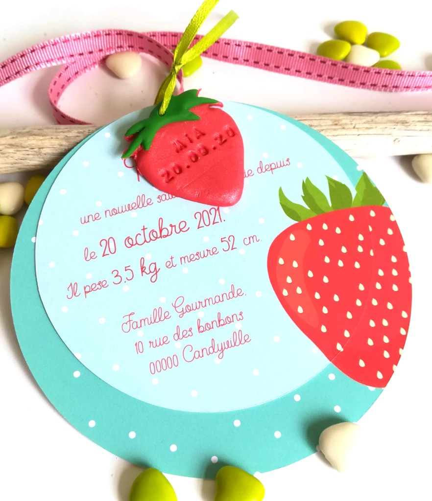 faire-part-invitation-bapteme-fraise-gourmandise