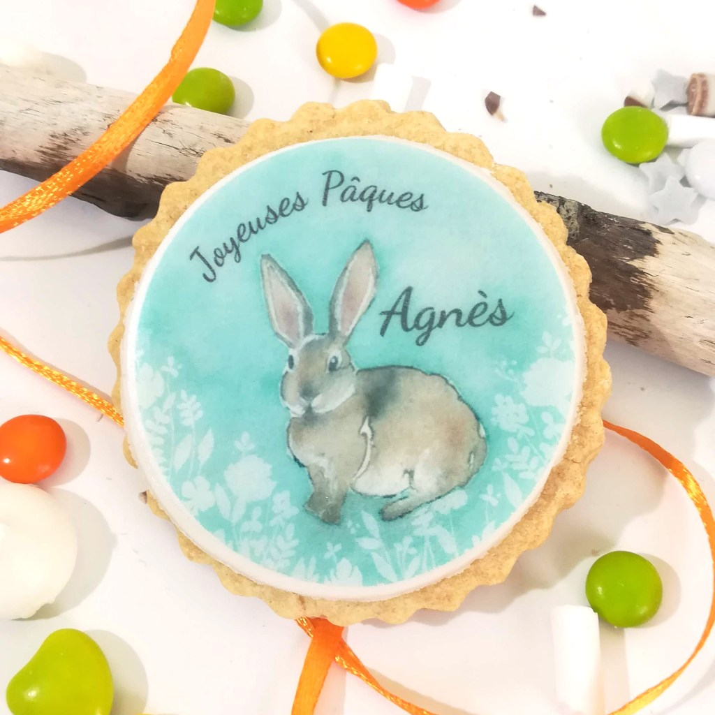 biscuit-personnalise-lapin-bleu-paques