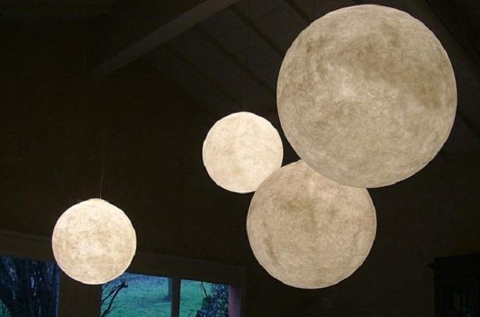 Lmpara luna Impresionante lmpara de diseo inspirada en