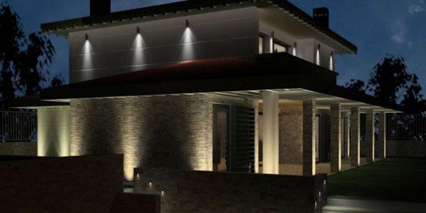 Consejos de iluminacin exterior de chalets Cmo iluminar exteriores