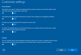 Microsoft's Privact Setting