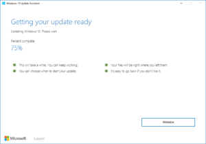 Update Assistant on Windows 10