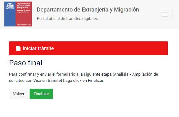 paso a paso ampliar solicitud de visa en tramite