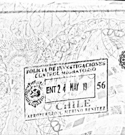 Estampado de ingreso a Chile