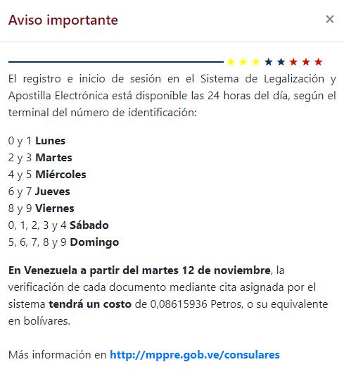 Cita apostilla antecedentes penales venezolanos