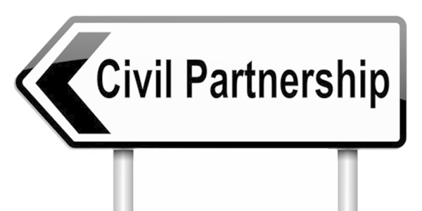 Civil Partnerships sign