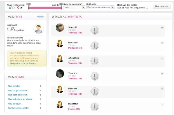 membres et profils sur choisistavoix