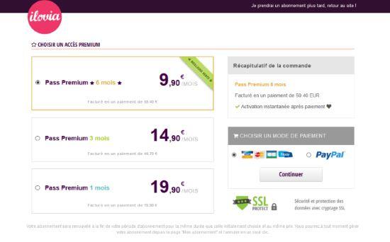 Ilovia - Tarifs & Abonnements