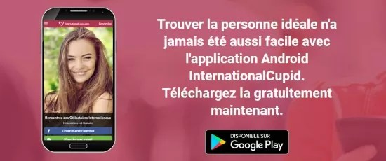 InternationalCupid - Application Mobile