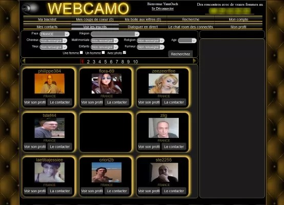 WebCamo - Apercu Interface