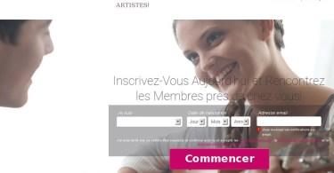 ArtisteRencontre - Test & Avis