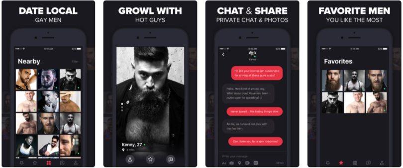 Grizzly App - Apercu Interface