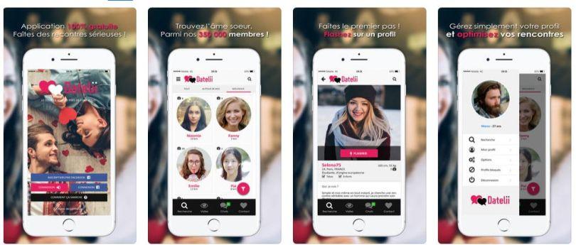Datelii Rencontre Appliction Mobile - Apercu Interface