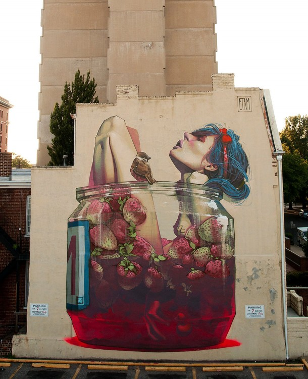 ETAM CREW  Street-art Fresque murale Moonshine, Richmond, USA