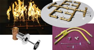 Gas fire pit burner