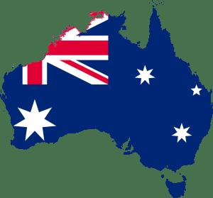 Australia-Flag-Map
