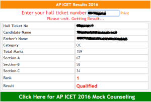 AP ICET Results 2017