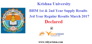 KRU BHM Suplly and Regular Results 2017